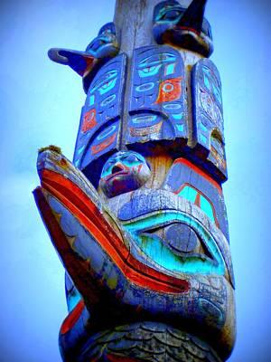 Native Art Digital Art - Totem 42 by Randall Weidner