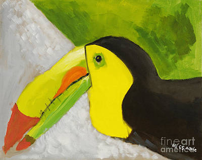 Multi Colored Painting - Toucan by Katie OBrien - Printscapes