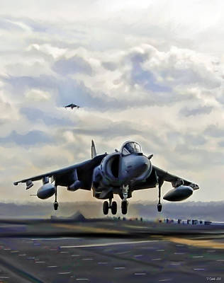 Essex Digital Art - Touchdown Navy by Peter Chilelli