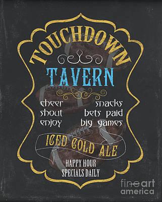 Barrel Painting - Touchdown Tavern by Debbie DeWitt