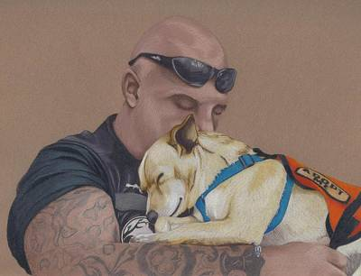 Dog Drawing - Tough Love by Stacey Jasmin