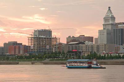 Touring The Cincinnati  Ohio Skyline Print by Randall Branham