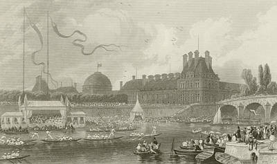 Tournay On The Seine During The July Fetes Print by Eugene-Louis Lami