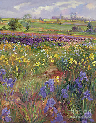 Ground Painting - Towards Burgate Church by Timothy Easton
