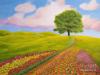Organic Painting - Towards Spring by Veikko Suikkanen