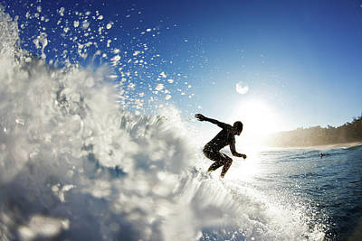 Surfing Art Photograph - Towards The Light by Sean Davey