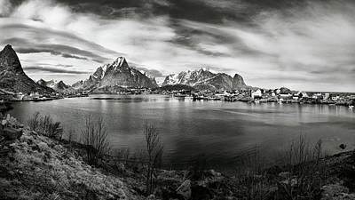 Lofoten Photograph - Towards The Mountains by Dave Bowman