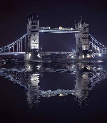Walkway Digital Art - Tower Bridge by  Jaroslaw Grudzinski