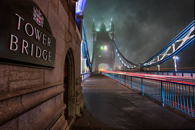 Tower Of London Photograph - Tower Bridge by Thomas Zimmerman