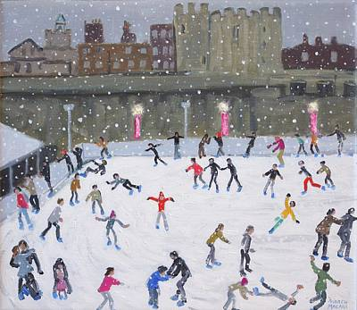 Tower Of London Ice Rink Print by Andrew Macara