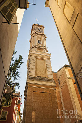 Tower Of Saint Francois In Nice Print by Elena Elisseeva