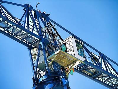 Crane Digital Art - Towering 10 by Wendy J St Christopher
