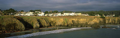 Mendocino Photograph - Town At The Seaside, Mendocino by Panoramic Images
