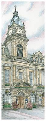 Town Hall Clock Kendal Cumbria Print by Sandra Moore