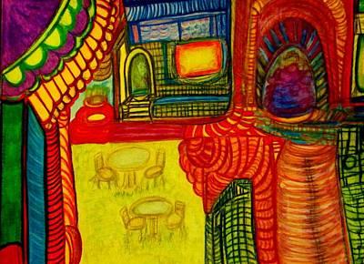 3 Painting - Town 2 by Stephanie Zelaya