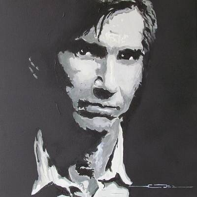 Singer Drawing - Townes Van Zandt  by Eric Dee