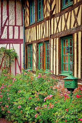 Townhouses Photograph - Townhouse In Normandy by Olivier Le Queinec