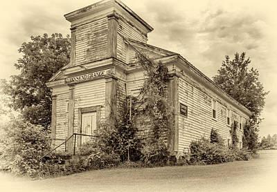 Finger Lakes Photograph - Townsend Grange Hall - Sepia by Steve Harrington