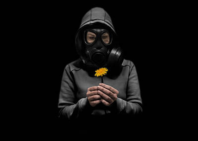 Mask Photograph - Toxic Hope by Nicklas Gustafsson