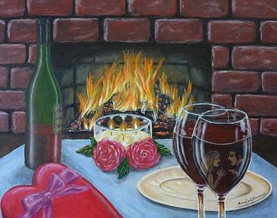 Box Wine Painting - Toxic Romance by Amelie Simmons