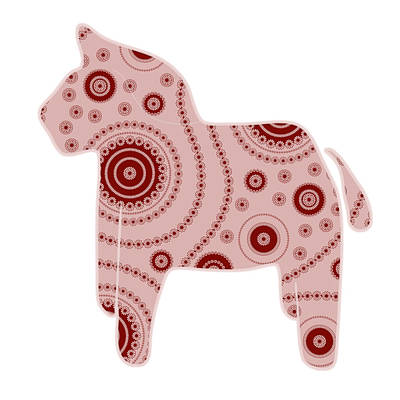 Paisley Drawing - Toy Horse by Frank Tschakert