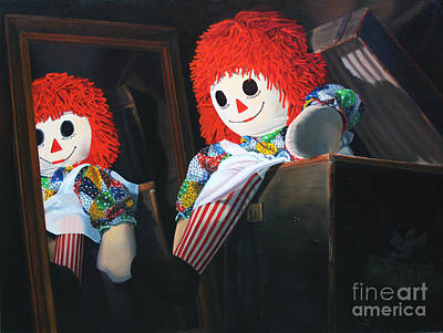 Raggedy Painting - Toy In The Attic by Deb LaFogg-Docherty