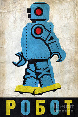 Toy Robot Russia Print by Luca Oleastri