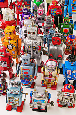 Android Photograph - Toy Robots by Garry Gay