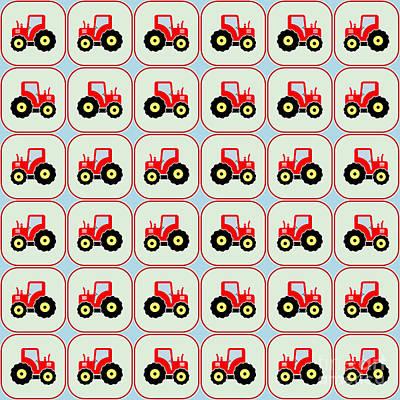 Toy Tractor Pattern Print by Gaspar Avila