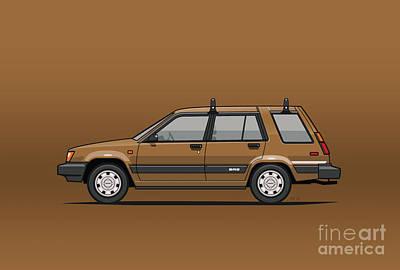 Toyota Tercel Sr5 4wd Wagon Al25 Bronze Print by Monkey Crisis On Mars