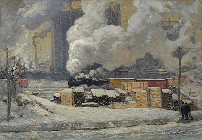 Painting - Tracks And Traffic by James Edward Hervey MacDonald