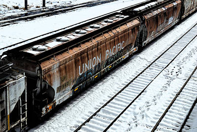 Train In The Winter Photograph - Tracks In The Snow by Brian Orion