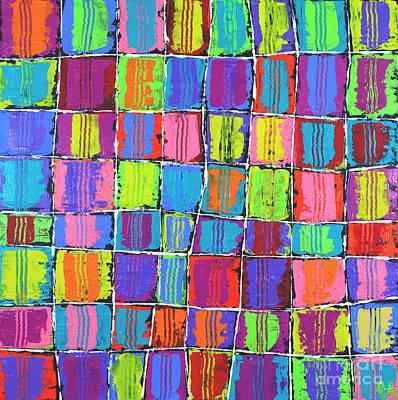 Tracks Over Squares Print by Jeremy Aiyadurai