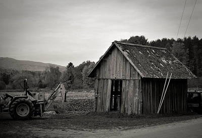 Tractor And Shed Print by Mandy Wiltse