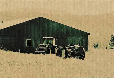 Farm Photograph - Tractors Green by JAMART Photography