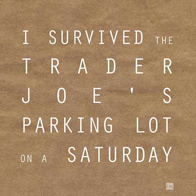 Trader Joe's Parking Lot Print by Linda Woods
