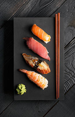 Sushi Photograph - Traditional Japanese Sushi  by Vadim Goodwill