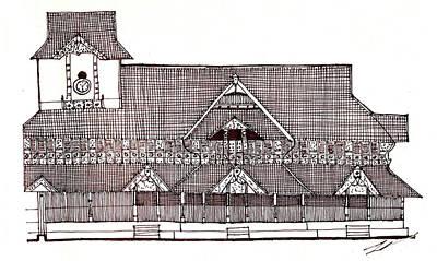 traditional Kerala house Print by Farah Faizal