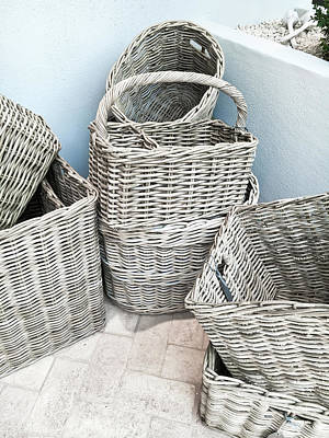 Candid Photograph - Traditional Wicker Baskets by Tom Gowanlock