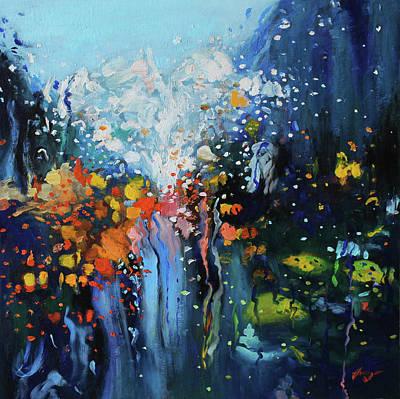 Traffic Seen Through A Rainy Windshield Original by Dan Haraga