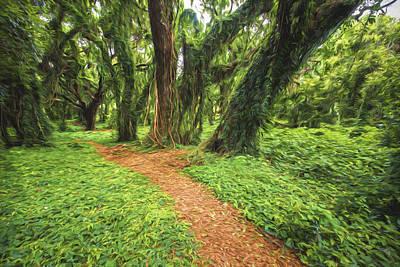 Art In Nature Digital Art - Trail Of Trees IIi by Jon Glaser