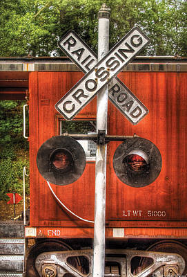 Train - Yard - Railroad Crossing Print by Mike Savad
