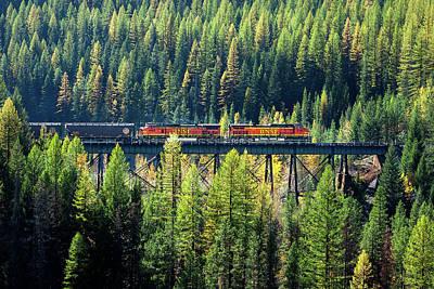 Train Coming Through Print by Todd Klassy