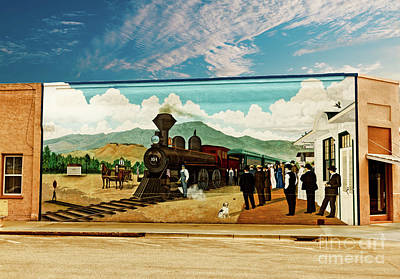 Train Depot Photograph - Train Depot Mural  by Robert Bales