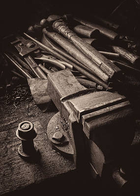 Hammer Photograph - Train Driver's Tools by Dave Bowman
