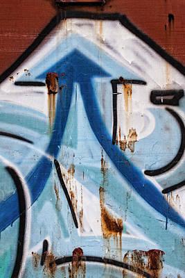 Urban Art Photograph - Train Graffiti Double Arrow by Carol Leigh