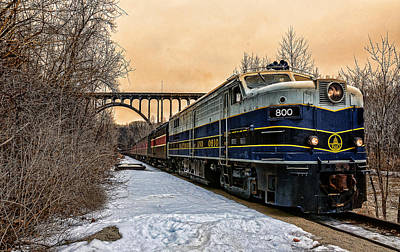 Train In The Winter Photograph - Train In The Valley by Tish Hopkins