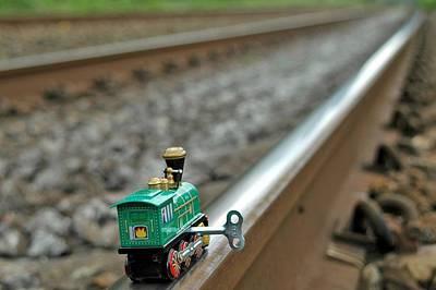 Train On Tracks Print by Bill Kellett