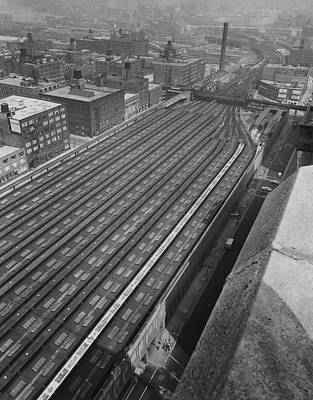 Train Sheds At Chicago Passenger Terminal - 1961 Print by Chicago and North Western Historical Society