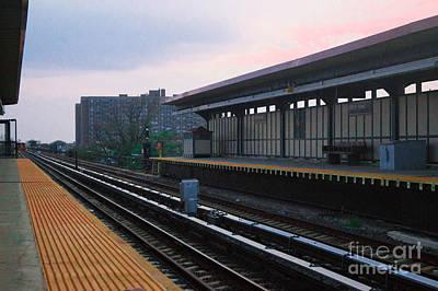 Sunset Photograph - Train Station by Chris Baboolal
